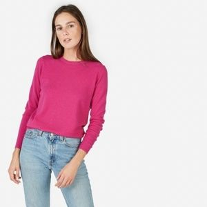 Everlane hot pink cashmere crew neck sweater